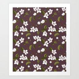 Botanical pure white bloom Art Print