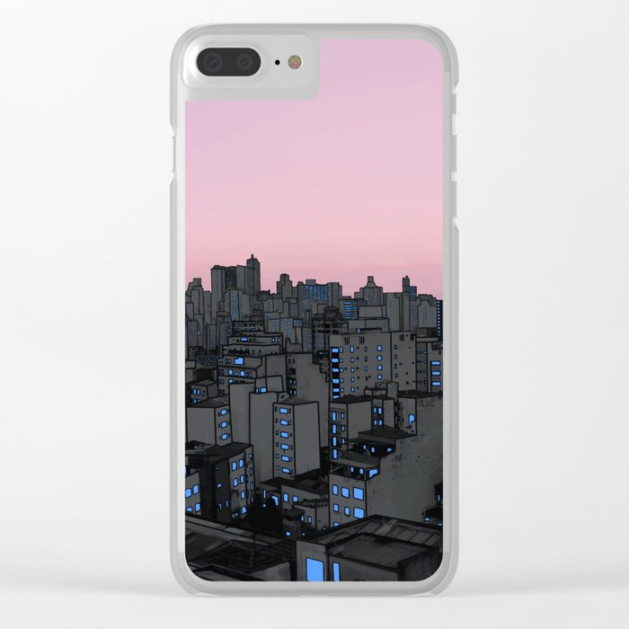 Skyline IV Clear iPhone Case