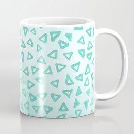 Teal Glitter Triangles Coffee Mug