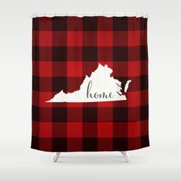 Virginia is Home - Buffalo Check Plaid Shower Curtain