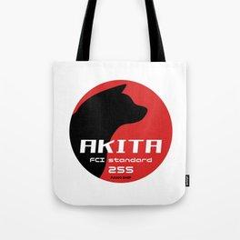 Akita standard 255 logo2 Tote Bag