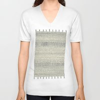 rug V-neck T-shirts featuring Rug by Rebecca Zablocki