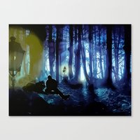 sterek Canvas Prints featuring Sterek by reliand