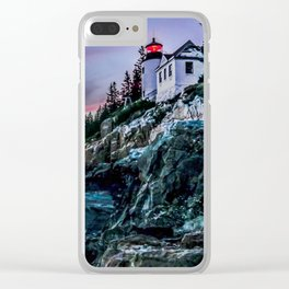 Bass Harbor Light in Acadia National Park Clear iPhone Case