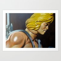 he man Art Prints featuring HE-MAN by John McGlynn