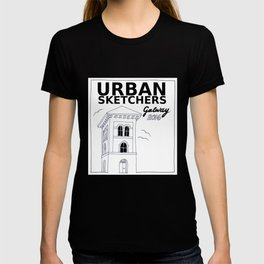 Urban Sketchers Galway Workshop 2016 (white) T-shirt