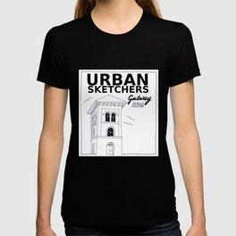 Urban Sketchers Galway Workshop 2016 (white) T-shirt