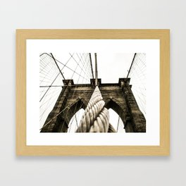 NYC Brooklyn Bridge | Escape line for eternity Framed Art Print