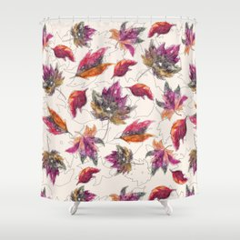 Maple Pattern Shower Curtain