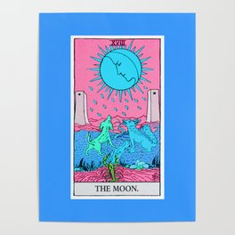 18. The Moon- Neon Dreams Tarot Poster