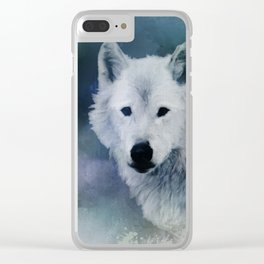 Spirit of White Wolf Clear iPhone Case