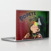 popeye Laptop & iPad Skins featuring POPEYE THE SAILOR MON - 018 by Lazy Bones Studios