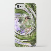pixies iPhone & iPod Cases featuring Green Flower fairy by Just Kidding