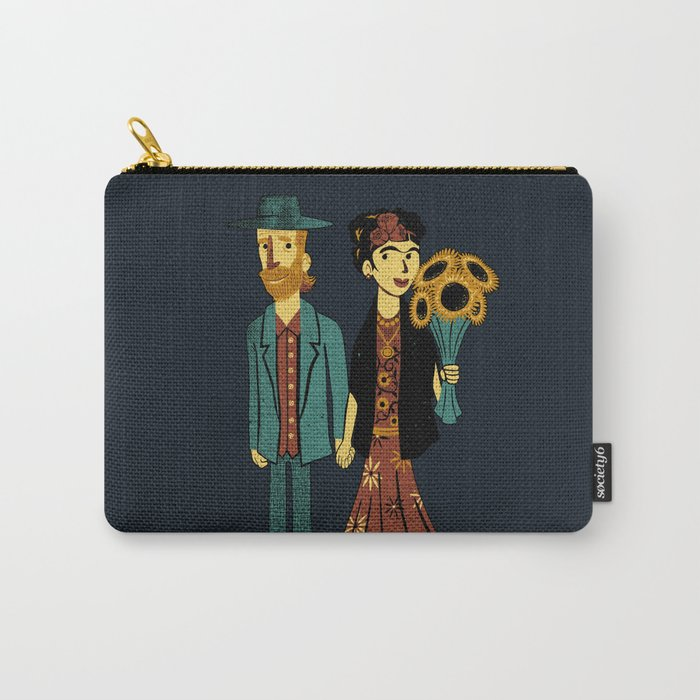 Love is Art Frida Kahlo and Van Gogh Carry-All Pouch