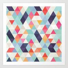 geometric cover Art Print