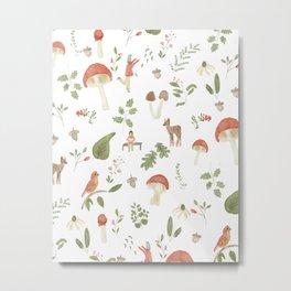 Forest Dream Pattern Metal Print