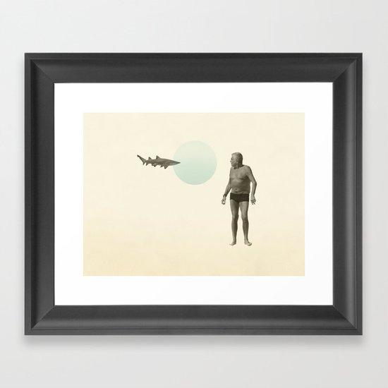 shark bate Framed Art Print