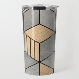 Concrete and Wood Cubes 2 Travel Mug