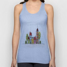 Cute Houses Unisex Tank Top