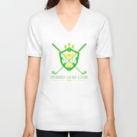 hyrule V-neck T-shirts featuring Hyrule Golf by reyrol