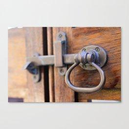 Garden Gate Door Lock Canvas Print
