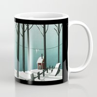 finland Mugs featuring Finland by quentinschall