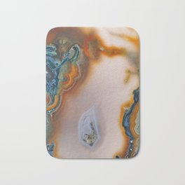 Translucent Teal & Rust Agate Bath Mat