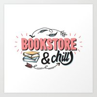 BookStore And Chill Art Print