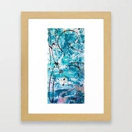 Winter storm Framed Art Print