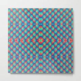 BriteBricks Pattern Metal Print