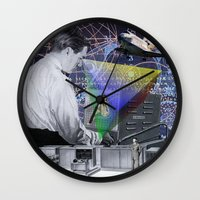 fig Wall Clocks featuring Fig.2. by TRASH RIOT
