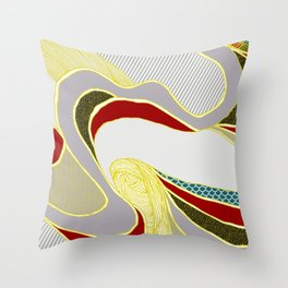 naive lines Throw Pillow