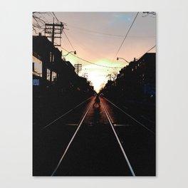 Crossing Queen Street Canvas Print