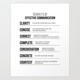 Effective Communication In Business, Office Decor Ideas, Wall Art Art Print