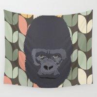 gorilla Wall Tapestries featuring Gorilla by Sezgen