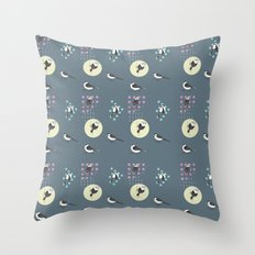 Birds And Dots Throw Pillow