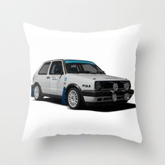 Golf rallycar Throw Pillow