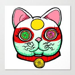 Good Luck Dizzy Cat Odyssey by Donut Matter Canvas Print