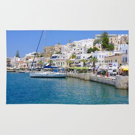 Beautiful Naxos in the Greek Islands Rug