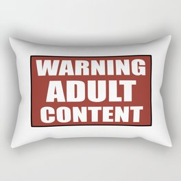 Warning adult content red sign Rectangular Pillow