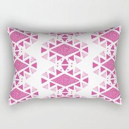 Monlay Pink, Mountain lines, Geometric Rectangular Pillow