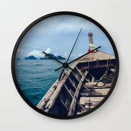 Pacific Boat Adventure Wall Clock