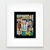 gta Framed Art Prints featuring Breaking Bad GTA HD  by Akyanyme