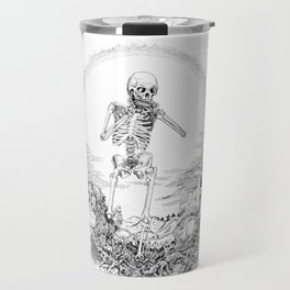Death and Harmonica Travel Mug