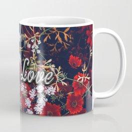 Fake Love Red Floral Coffee Mug