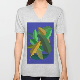 Bunch of Banana Leaves Unisex V-Neck