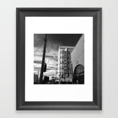 Inner Liquors Black & White San Francisco Framed Art Print