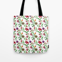 Bright seamless floral pattern on white background Tote Bag
