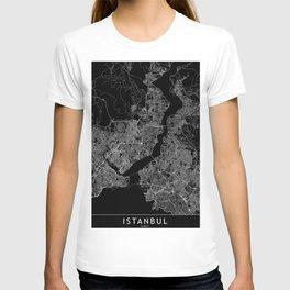 Istanbul Black Map T-shirt