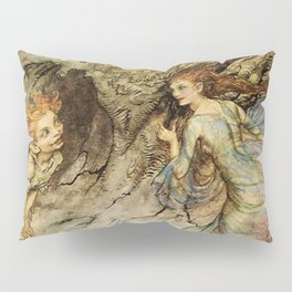 """Puck and a Fairy"" by Arthur Rackham Pillow Sham"